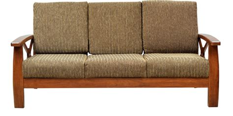 buy winston solid wood three seater sofa by hometown