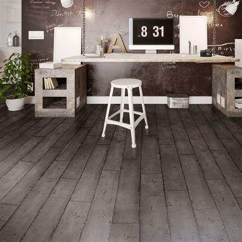 colours distressed charcoal effect luxury vinyl click