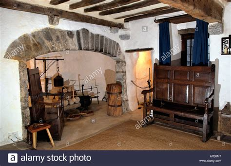 tudor house interior interior of the tudor merchants house late 15th century town house in stock photo