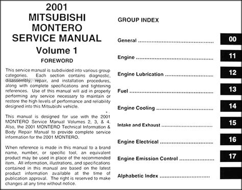 service manual free online auto service manuals 2001 mitsubishi montero sport windshield wipe