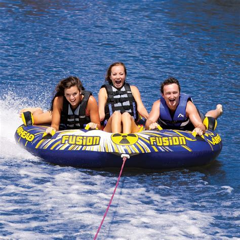 cool boat tubes fusion 2 inflatable triple rider towable airhead
