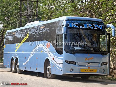 intercity buses operated by various travels and