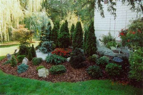 Arborvitae Patio Landscaping Around A Small Patio With Emerald Green