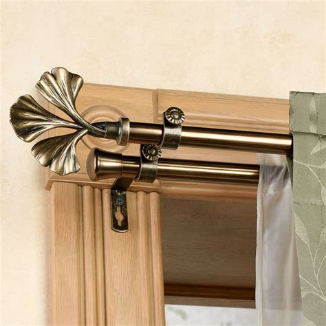 double drapery rod set fortune double curtain rod set 28 quot to 170 quot