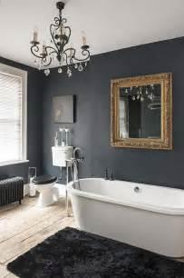 Homes Interior Decoration Images des teintes sombres pour une salle de bain moderne