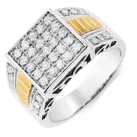 Mens Ring by S Ring With 1 Carat Tw Of Diamonds In 10ct Yellow