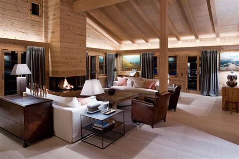 Architecture Living Room Design by And Cozy Chalet Located In Gstaad Keribrownhomes