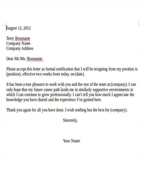 resignation letter effective date sample resignation letter