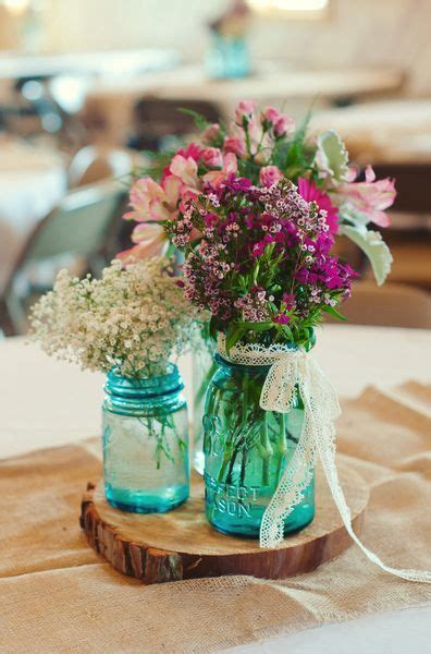 jar and wood centerpieces 1000 ideas about blue jars on vintage