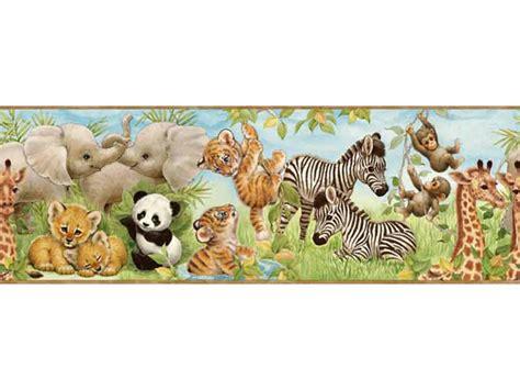 Wallpaper Border Animal animal wallpaper for nursery wallpapersafari