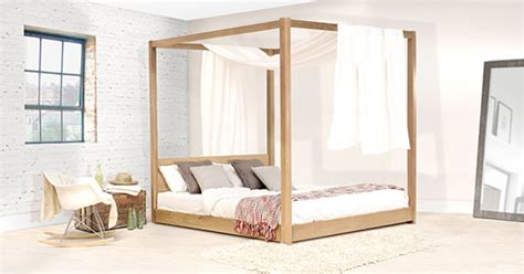 Wooden Four Poster Bed Frames Handmade Wooden Low Four Poster Bed By Get Laid Beds Ebay