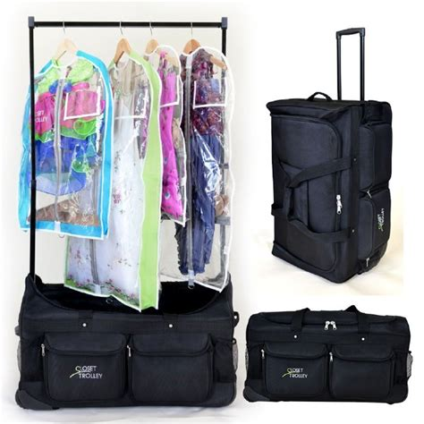Rolling Bag With Garment Rack by The Closet Trolley Rolling Duffel Bag Bag With Clothes Rack