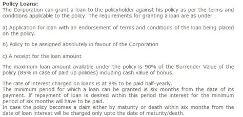 Lic Policy Loan Letter Format Discontinue Insurance Policy Paid Up Loan Be Money Aware
