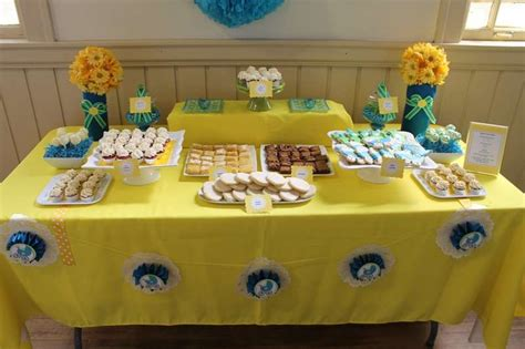 Blue And Yellow Baby Shower by Blue And Yellow Baby Shower Ideas Photo 2 Of 17