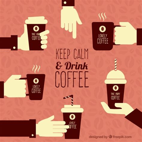 Keep Calm And Drink More Coffee keep calm and drink coffee vector free