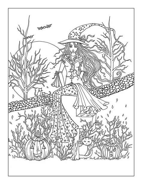 printable halloween coloring pages pdf free printable halloween coloring page adults az
