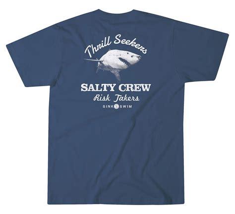 salty t shirt salty crew bitten t shirt navy tackledirect
