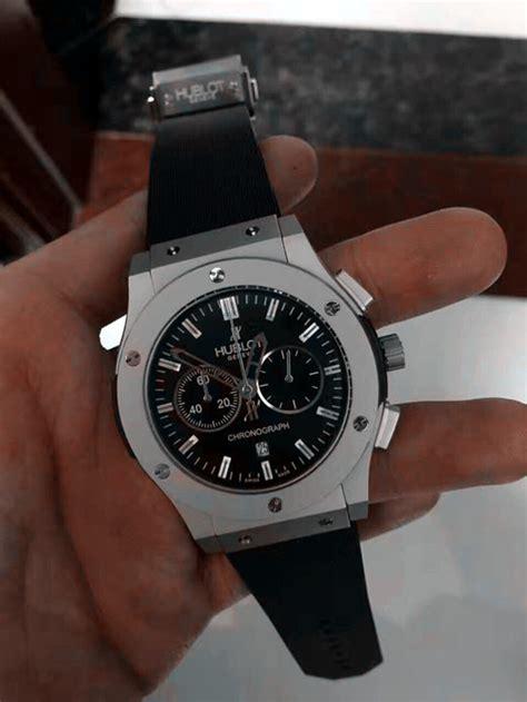 Jam Hublot Silver Black Details Best Clone replica hublot big 44mm black dail 0515a replica breitling watches copy watches
