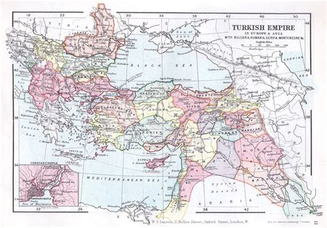 turkey ottoman empire map turkish ottoman empire map lincoln st album 1899