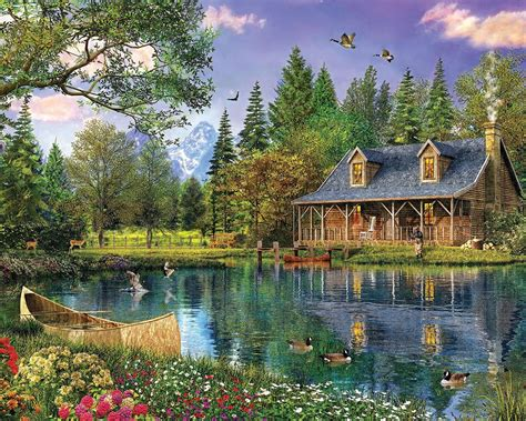 mountain cabin mountain cabin jigsaw puzzle puzzlewarehouse