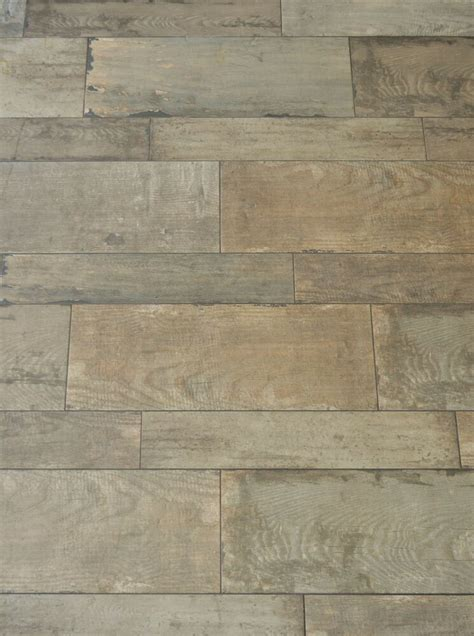 Distressed Floor L - distressed shabby chic rustic wood effect glazed porcelain
