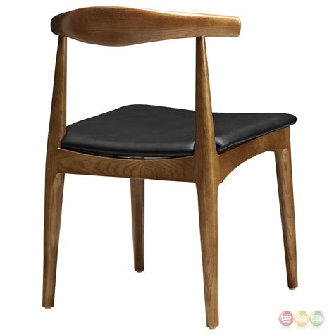 tracy mid century modern curved wood dining side chair w