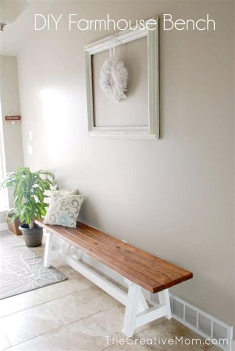 diy entry bench 41 more farmhouse decor ideas