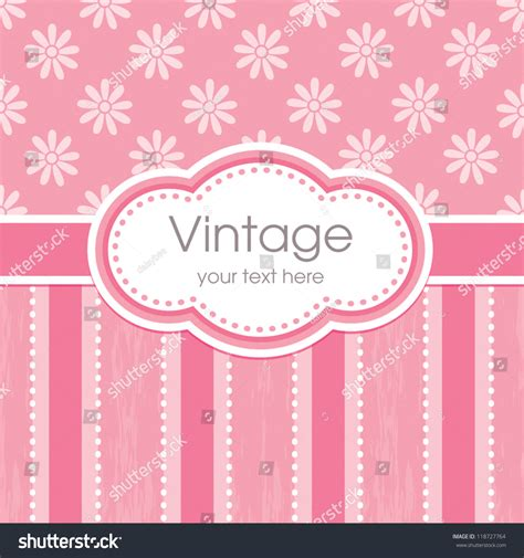 Birthday Card Vintage Template by Vector Greeting Card Template Vintage Floral Stock Vector