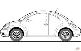 printable coloring pages vw bug volkswagen beetle 2009 coloring page free printable