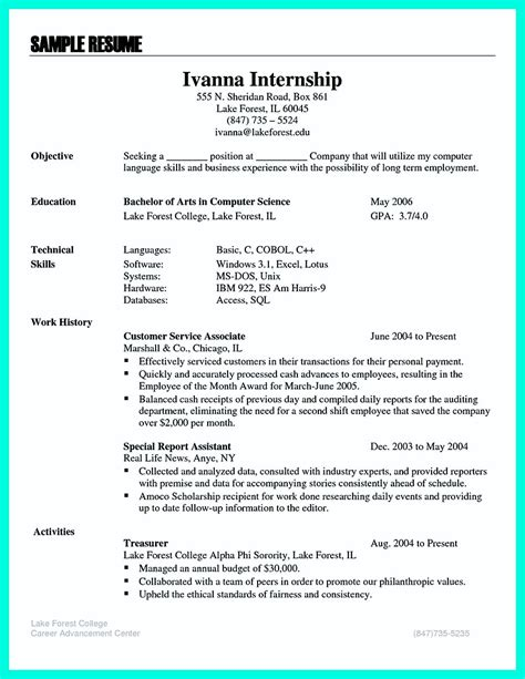 Computer Science Resume Objective the best computer science resume sle collection