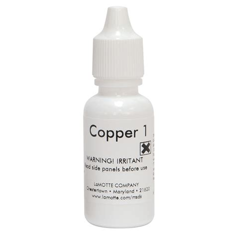 lamotte 6446 e replacement refill copper 1 reagent 15 ml from davis instruments
