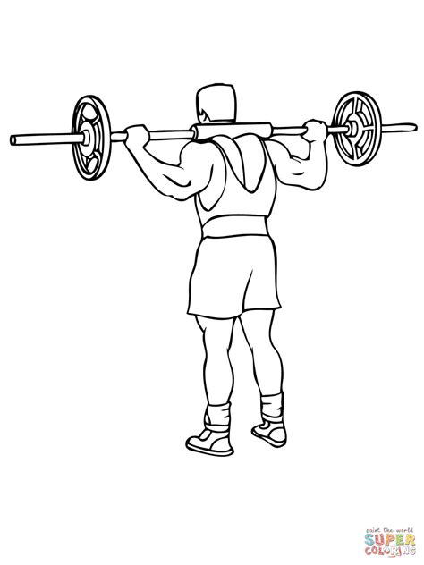printable coloring pages exercise barbell good morning exercise coloring page free