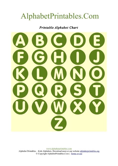 printable a z alphabet chart circle shaped a z letter chart templates alphabet