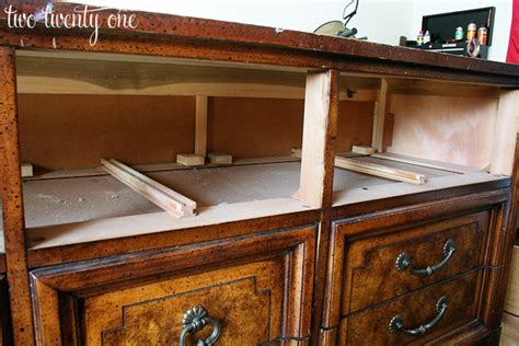 How To Turn Dresser Into Tv Stand by How To Turn A Dresser Into A Tv Stand Diy Two Twenty One