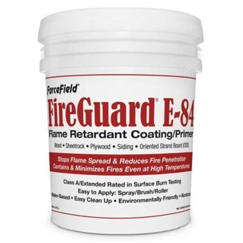 home depot paint guard forcefield fireguard e 84 5 gal intumescent primer ffgd