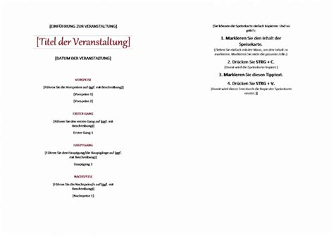 Word Vorlage Speisekarte Speisekarten Vorlagen Tipps Und 95 Kostenlose Mustermen 252 S
