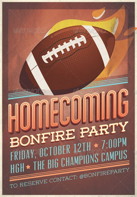 Homecoming Flyer Template Homecoming Flyer Invitation By Tomodachi Graphicriver