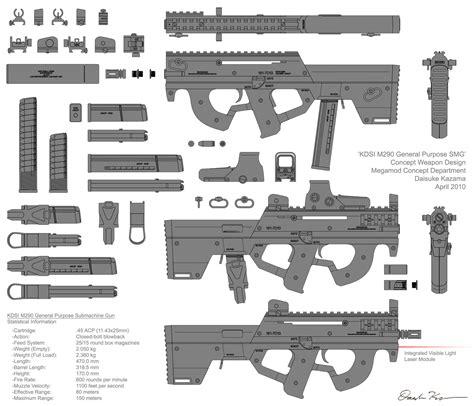 gun designs m290 submachine gun concept by nyandgate on deviantart