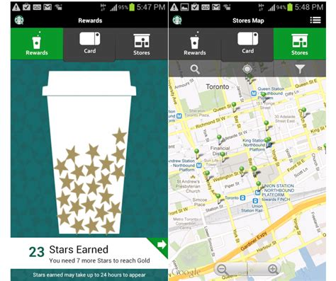 starbucks mobile app for android starbucks app for android updated to version 2 1 1 fixes crashing issues mobilesyrup