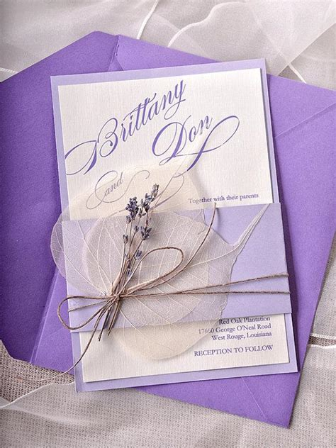 Wedding Invitations Lavender by Custom Listing 100 Lavender Wedding Invitations Cards
