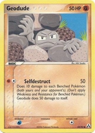 Ds 004 Set Miki Ripped geodude 53 92 common ex legend maker singles