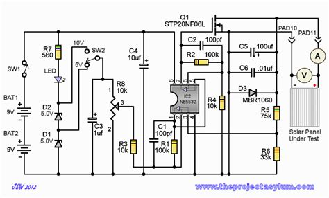 solar panel circuit diagram schematic wiring diagrams