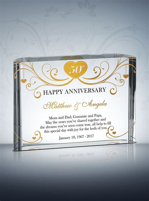 50th Wedding Anniversary Gift 50th golden wedding anniversary gifts diy awards