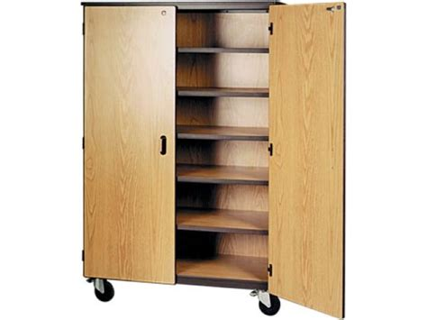 Mobile Storage Cabinet 5 Shelves Locking Doors 72 Quot H Storage Cabinets With Locking Doors