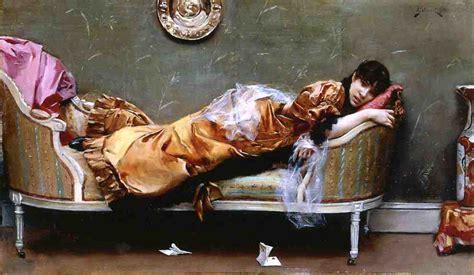 woman reclining reclining woman 1882 julius leblanc stewart wikiart org