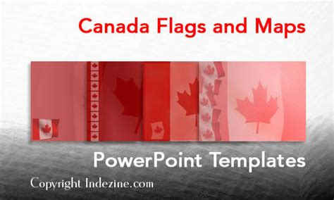 canada flags and maps powerpoint templates