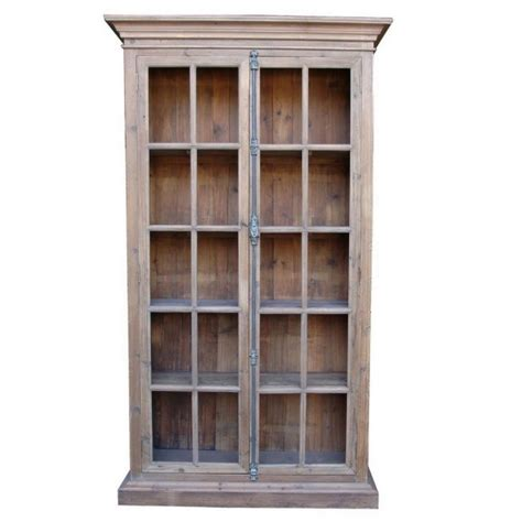library cabinet with glass doors french country reclaimed library cabinet vitrine