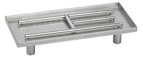 Gas Fireplace Burner Replacement by 22inx10in Stainless Steel Rectangular Pan Burner