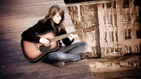 how to play boat drinks on guitar girl playing guitar mystery wallpaper