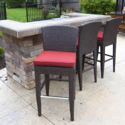 outdoor counter height bar stools island wicker counter height stools two pack by leisure select family leisure